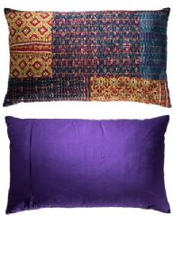 Cushion Cover~ Hippy Bohemian Indian Kantha Stitch Patchwork Cushion Cover~ By Folio Gothic Hippy CC50